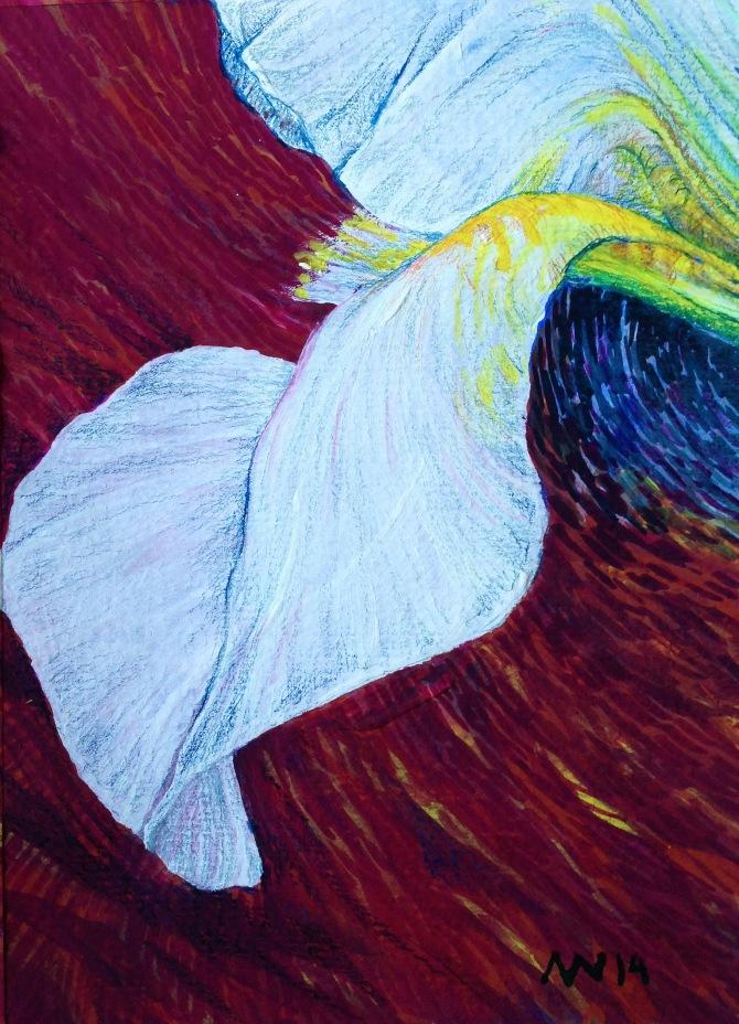 """Casein & colored pencil: 5"""" x 7"""""""