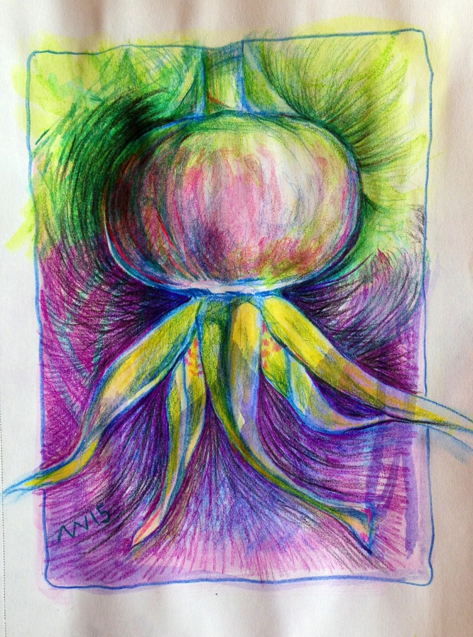 Inktense and colored pencil