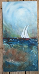Finished painting: oil paint stick on canvas