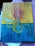 in progress: oil bar on canvas