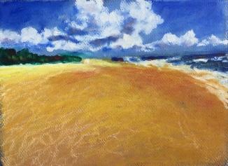 "Oil Paint Sticks on paper: 10"" x 8"""