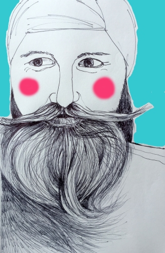 beardredcheekscolor